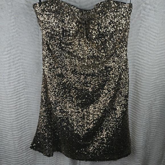 Alyce Paris Dresses & Skirts - Alyce Paris Strapless Sequin Mini Cocktail Dress